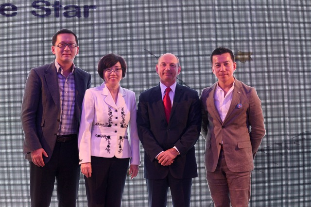 From left: Feng Gao, Little Star; May Liang, CTJPA; Olivier D'Agay, Le Petit Prince; Cameron Bai, President of Robb Report, China.