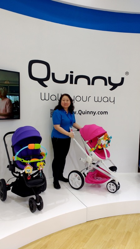 """""""Dorel's strength are strollers and car seats; Quinny and Maxi-Cosi are our leading brands"""", said Grace Wee, Marketing Director of Dorel Juvenile China."""