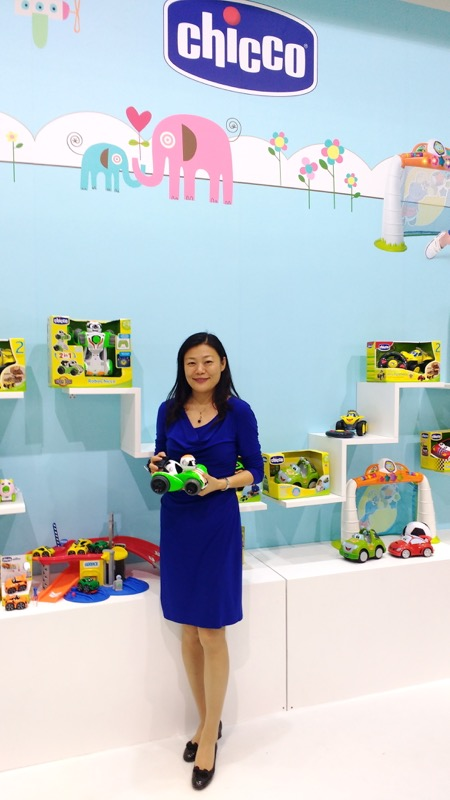 Crystal Zhong, General Manager of Kidsland, a leading sales marketing and distribution service company in China, specialising in international children's brands such as Chicco.